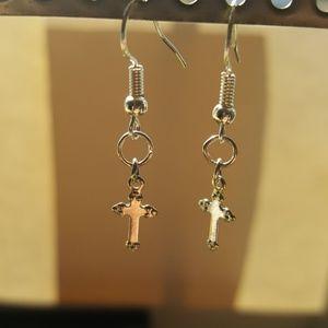 🙏Women's Silver Cross Earrings😇